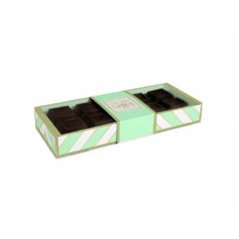 Caixa para Tablete Chevron Verde 27,4x11x3,8 cm - Cromus
