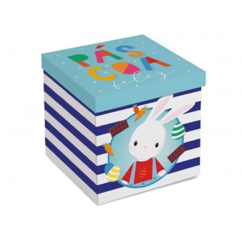 Caixa Surpresa para Ovo de Páscoa em Pé 350g - Brilho de Páscoa Azul - Cromus