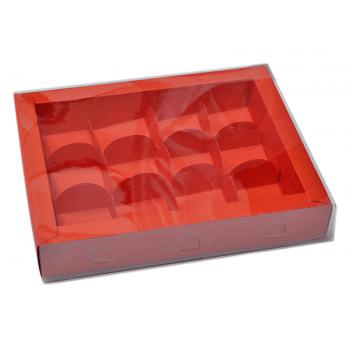 Caixa para 12 Doces - Lisa Vermelha - Rô Artesanato