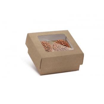 Caixa para 4 Doces c/ Forminhas - Kraft - Cromus