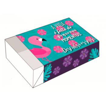 Caixa para 6 Doces 12x8x3,5 cm - A Vida é Feita de Pequenos Momentos