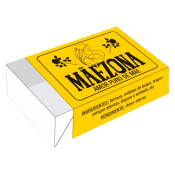 Caixa para 6 Doces 12x8x3,5 cm - Maezona