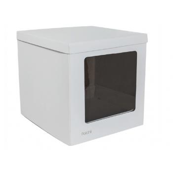 Caixa para Transporte de Bolo Cake Box 32x32x30 cm Branca – Patchii Embalagens