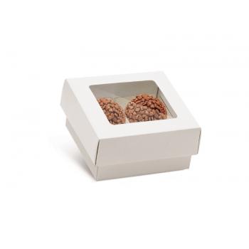 Caixa para 4 Doces c/ Forminhas - Branca - Cromus