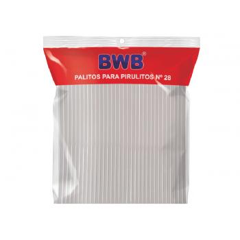 Palito de Plástico para Pirulito 28cm Cristal c/50 - Bwb