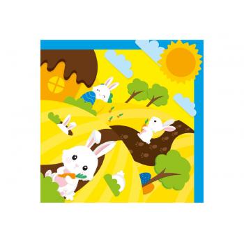 Embalagem Express para Ovo de Páscoa Amarelo 24x24 cm c/ 5 unidades - Brincando no Bosque - Cromus