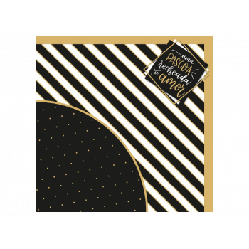 Embalagem Express para Ovo de Páscoa Colorido 44x44 cm c/ 25 unidades - Recheado de Amor - Cromus