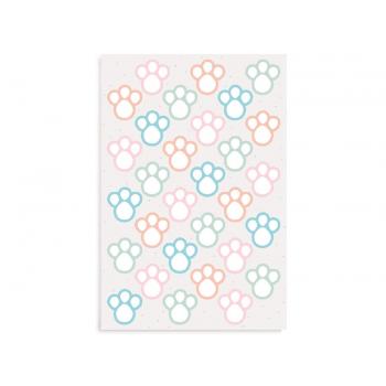 Etiqueta Cartela Pegadas Colorido c/ 16 unidades - Cromus