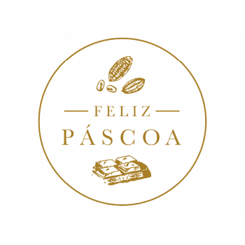Etiqueta Feliz Páscoa Ouro c/ 50 unidades - Ideia Embalagens