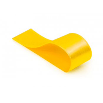 Fita de Cetim Lisa Amarela 38 mm – Cromus