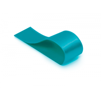 Fita de Cetim Lisa Azul Turquesa 38 mm – Cromus