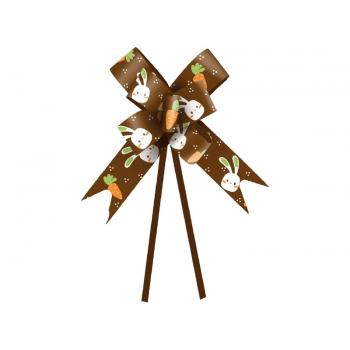 Laço Pronto Vida de Coelho 36 cm c/ 10 unidades - Marrom - Cromus