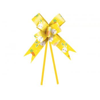 Laço Pronto Vida de Coelho 42 cm c/ 10 unidades - Amarelo - Cromus