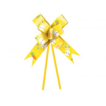 Laço Pronto Vida de Coelho 36 cm c/ 10 unidades - Amarelo - Cromus