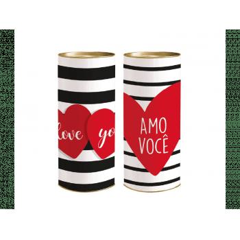 Lata Decorada 27x10 cm Unidade - Amor Composê - Cromus