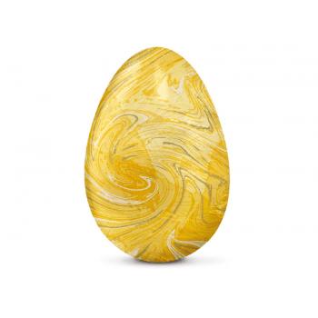 Papel Chumbo Amarelo Marmorizado 43,5x58,5 cm c/ 5 Folhas - Cromus