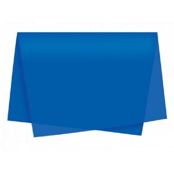 Papel de Seda Azul Royal c/ 3 unidades 49x69 cm - Cromus