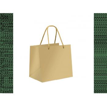 Sacola de Papel - Premium Lisa Ouro - Cromus