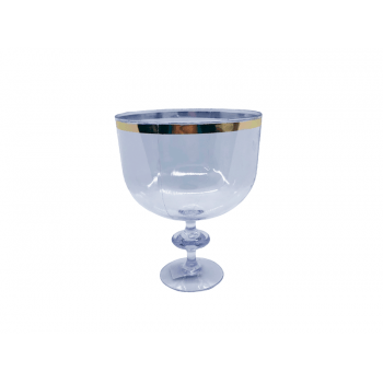 Taça Americana Cristal c/ Borda Ouro 1,25L - Lsc Toys