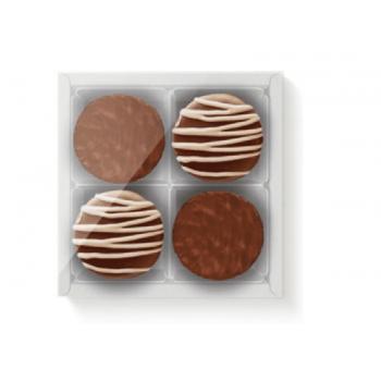 Caixa para 4 Pão de Mel 16,5x16,5x4cm c/visor cor branca - Cromus