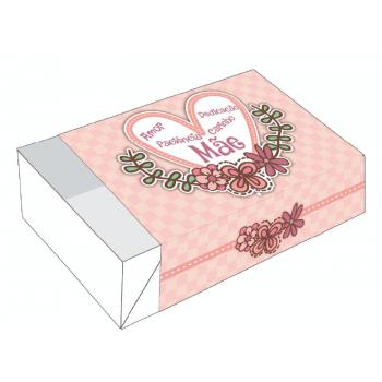 Caixa para 6 Doces 12x8x3,5 cm c/10 unidades - Coração de Mãe