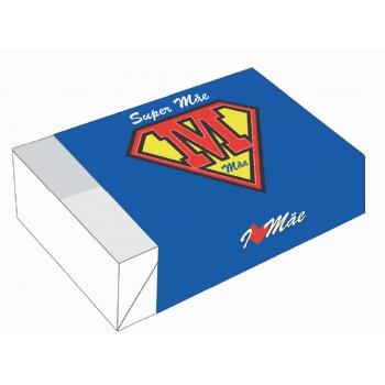 Caixa para 6 Doces 12x8x3,5 cm c/10 unidades- Super Mãe