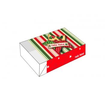 Caixa para 6 Doces- Feliz Natal Estrela