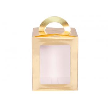 Caixa para Panetone c/ Visor de Acetato 500 g Ouro  – Decora Doces