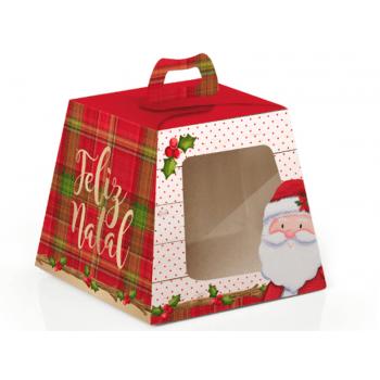 Caixa para Panetone c/ Visor de Acetato Noel 100 g – Cromus