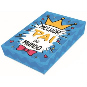 Caixa para 12 Doces Dia dos Pais c/ 3 Unidades 20x13x4 cm – Melhor Pai do Mundo