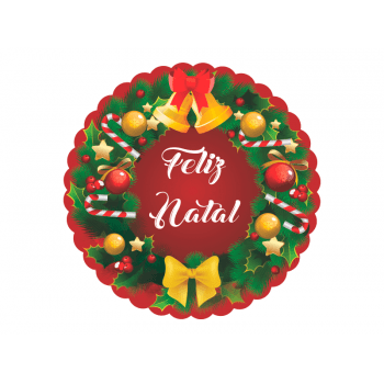 Etiqueta para Presente Natal c/ 100 – Guirlanda-Decora Doces