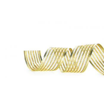 Fita Aramada Listras Ouro 3,8cmx 9,14M – Cromus