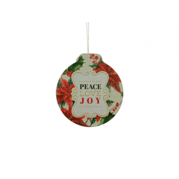 Lata Decorada natal Peace Love Joy P – Yangzi