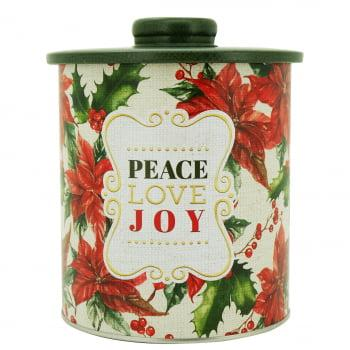 Lata Decorada Natal Peace Love Joy – Yangzi