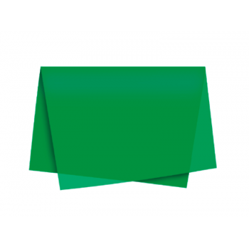 Papel de seda Verde Bandeira c/3 unidades 49 x 69 cm -  Cromus