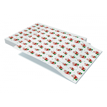 Papel Manteiga Decorado Papai Noel c/ 5 unidades – Decora Doces