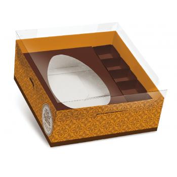 Caixa para Ovo de Colher 350g – Chocolatier Laranja - Cromus