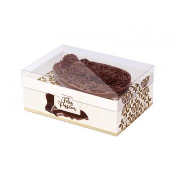 Caixa para Ovo de Colher 350g - Flor de Cacau Marfim - Cromus
