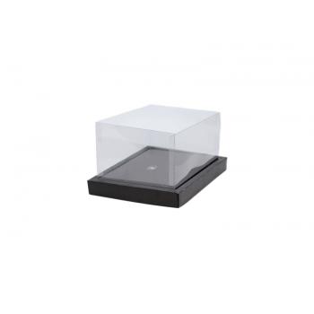 Caixa para Ovo de Colher 350g – Moldura Tresse Preto - Cromus