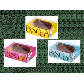 Caixa para Ovo de Colher 500g Unidade - Páscoa Cores Sortidas - Cromus