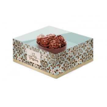 Caixa para Ovo de Colher Turquesa 50g - Flor de Cacau - Cromus