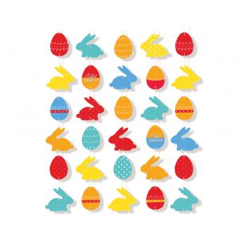 Cortina Decorativa de Páscoa - Cromus