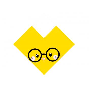 Embalagem Express para Ovo de Páscoa Amarelo 35x 35 cm c/ 5 unidades – Orelha Óculos - Cromus