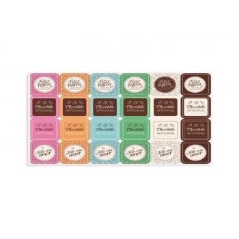 Etiqueta Cartela c/24 - Chocolatier - Cromus