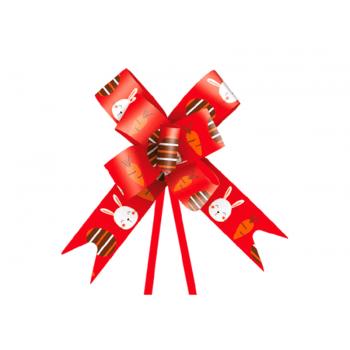 Laço Pronto Fun 1,8x38 cm c/ 10 unidades - Vermelho - Cromus