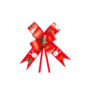 Laço Pronto Fun 2,3x38 cm c/ 10 unidades - Vermelho - Cromus