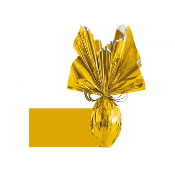 Papel Metalizado para Ovo de Páscoa Ouro 69x89 cm c/ 5 unidades – Lisos - Cromus