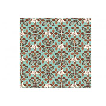Papel Metalizado para Ovo de Páscoa Tiffany 69x89 cm c/ 5 unidades – Flor de Cacau - Cromus
