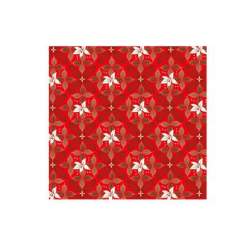 Papel Metalizado para Ovo de Páscoa Vermelho 69x89 cm c/ 5 unidades – Flor de Cacau - Cromus