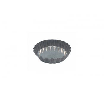 Forma Alumínio Torta Frisada 7x9x2 cm c/12 Unidades - Caparroz
